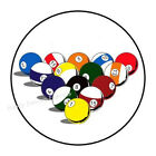 "30 BILLIARDS POOL ENVELOPE SEALS LABELS STICKERS PARTY FAVORS 1.5"" ROUND $1.96 USD on eBay"