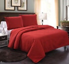 Bedspread Coverlet Set 3-Piece Oversized Bed Cover, Ultrasonic Quilt Set image