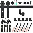 5/6/6.6/8/10FT Sliding Barn Door Hardware Kit Single Door Adjustable Floor Guide