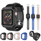 Rugged Case + Strap Bands For Apple Watch Series 5/4/3/2/1 44/40/42/38mm image