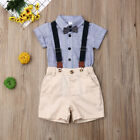 2PCS Newborn Baby Boy Gentleman Shirt Top+Pants Shorts Clothes Outfits Set 0-24M