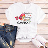 Happiness is being a ganny flower T-Shirt Gildan Mothers Day Gifts 0