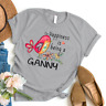 Happiness is being a ganny flower T-Shirt Gildan Mothers Day Gifts 1