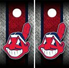 Cleveland Indians Metallic Cornhole Wrap Decal Vinyl Gameboard Skin Set YD528 on Ebay