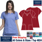 Cherokee Scrub ORIGINALS Women's Modern Classic Fit Round Neck Top 4824