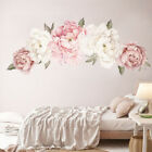 Large Peony Rose Flower Art Wall Sticker Living Room Home Background DIY DecalYY
