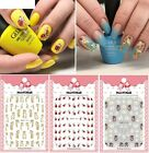 Women Cartoon Patterns Nails Art Manicure Back Glue Decal Decorations Sticker
