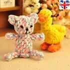 Dog Tough Strong Chew Knot Teddy Toy Pet Puppy Healthy Teeth Bear Cotton Rope UK