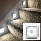 6 LED Night Light Motion Sensor Wall Closet Cabinet Stair Wireless Lamp UK