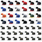 Embroidery Team Logo Flat Brim Baseball Cap Snapback Adjustable Hat Men Women on Ebay