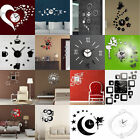 3d Diy Wall Clock Fashion Mirror Wall Sticker Living Room Home Art Decal Decor