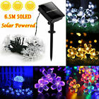 50 LED Solar Power Flower Fairy Garden Lights String Outdoor Party Wedding Xmas