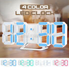 LED Digital Alarm Clock Desk Table Wall Snooze Timer 3D Display USB 12/24H Home