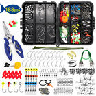 Kyпить 【188PCS】Fishing Accessories Kit set with Tackle Box Pliers Jig Hooks Swivels на еВаy.соm