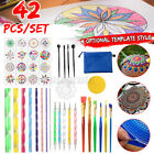 42Pcs Mandala Dotting Tools for Rock Painting Kit Dot Art Rock Pen Paint Stencil image