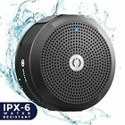 Portable Bluetooth Waterproof Speaker - Loudest Stereo Sound 6 hours Play Black