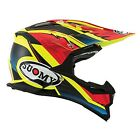 Suomy 2019 Alpha Waves Matte Offroad Carbon Helmet - Red/Yellow
