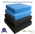 Poret® Aquarium Fish Tank Bio Filter Sponge Foam Pad Biological HMF 25x25x5cm