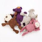 WO_ New Pet Dogs Puppy Cute Elephant Shape Plush Doll Interactive Chew Squeaking
