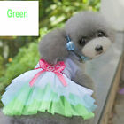 Pets Dog Dresses Princess Cute Clothes Clothing Skirt Supplies Accessories