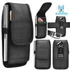 Phone Holster Nylon Oxford Belt Clip Pouch [rfid] Wallet Case Card Holder Slots