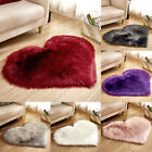 Kyпить Fluffy Heart Shaped Rug Shaggy Floor Mat Soft Faux Fur Home Bedroom Hairy Carpet на еВаy.соm