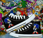 Anime Sonic the Hedgehog Cosplay Canvas Unisex Black&White Sneakers Casual Shoes