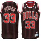 Scottie Pippen #33 Chicago Bulls Pinstripe Throwback Classic Swingman Jersey NEW