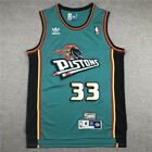 Mens Detroit Pistons Grant Hill #33 classical stitched  jersey S-2XL on eBay
