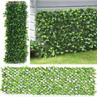 Artificial Leaf Hedge Screening Garden Fence Roll Cover Balcony Wall Privacy 2m