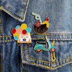 Gift Backpack Decoration Balloon Pin Drink Dress Flower Enamel Brooch Badge Co