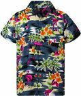 Hawaiian Shirt for Men Funky Casual Button Down Very Loud Shortsleeve Unisex Fla