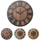 Home Decor Wall Clock Living Room Accurate Exquisite Wooden Craft Roman Digital