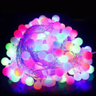 Electric 100/200LED Ball Fairy String Lights Xmas Bulb Garden Outdoor Indoor UK