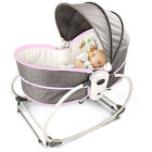NEW US 5In 1 Baby Infant Swing Rocker Compact Cradle Toddler Seat Chair w/ Music