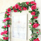 7 Ft Artificial Faux Flower Silk Rose Leaf Garland Vine Ivy Home Party Decor TA