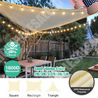 Sun Shade Sail Outdoor Patio Canopy Cover UV Block Triangle Square Sand Color