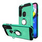 For Motorola Moto G Power 2020 Hybrid Case Ring Kickstand Cover+Screen Protector