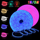 5m/1m 12V 2835 SMD Flexible LED Strip Waterproof Sign Neon Lights Silicone Tube