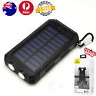 Portable solar 10000mah charger waterproof power bank compass dual usb ledlight