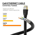 Cat 8 Ethernet Cable,2000Mhz Full Copper Wire Shielded S/FTP Cable Cord Lead Lot