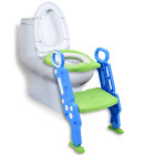 Potty Training Toilet Seat with Step Stool Ladder for Boys and Girls, Adjustable image