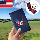 New Golf Leather Golf Scorecard Holder Yardage Book Cover Free 2 Golf Pencil
