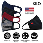 Kids 6-12 Old Face Cover Mask Cotton Double Layer Washable Reusable  - Made USA