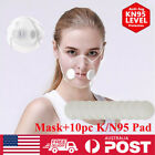 Reusable Clear Face Mask & 10x Filters Face Mouth Cover Anti-droplets Respirator