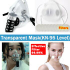 2 Types Transparent Mask Anti-droplets Reusable Face Mouth Cover & Filters Us