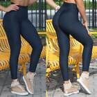 Women Anti-Cellulite Yoga Pants High Waist Leggings Push Up Ruched Trousers Gym