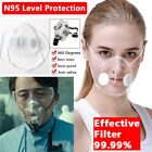 Transparent Mask Face Mouth Cover Reusable With Filters Masks Anti-droplets Us