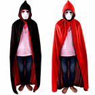 Adult / Kids Reversible Cape Robe Cloak Halloween Vampire Witch Costume Props US