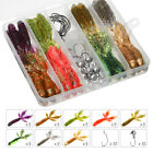 40pcs Soft Shrimp Fishing Lure 75mm Silicone Bait Artificial Fish Soft Worm Hook